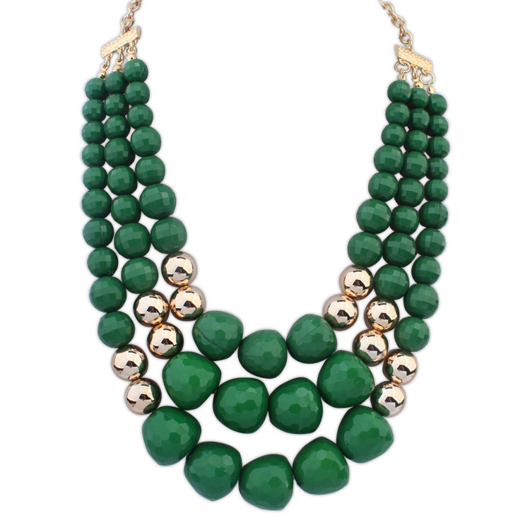 new trendy multilayer chunky bubblegum necklace