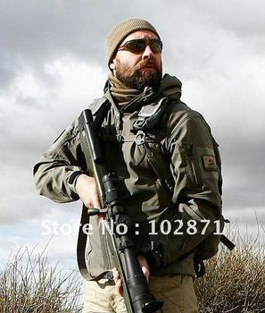 HOT TAD V 4.0 Men Outdoor Hunting Camping Waterproof Coats Jacket Hoodie Black / Green / Desert / Brown / ACU / CP XS - XXL