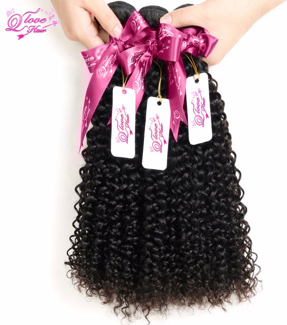 Queen Hair Products Evet Brazilian Virgin Curly Hair Weaves 1pc Alot 7a Unprocessed Virgin Hair Afro Kinky Curly Hair Bulk