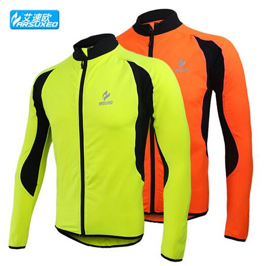 ARSUXEO Winter Warm Fleece Bike Men Cycling Jacket Long Sleeve Fitness Exercise Sport Running Jersey Bicycle Wind Coat(China (Mainland))