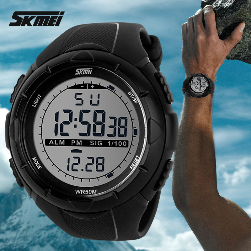Hot 2016Skmei Brand Men Sports Watches Military Watch Casual LED Digital Watch Multifunctional Wristwatches 50M Waterproof(China (Mainland))