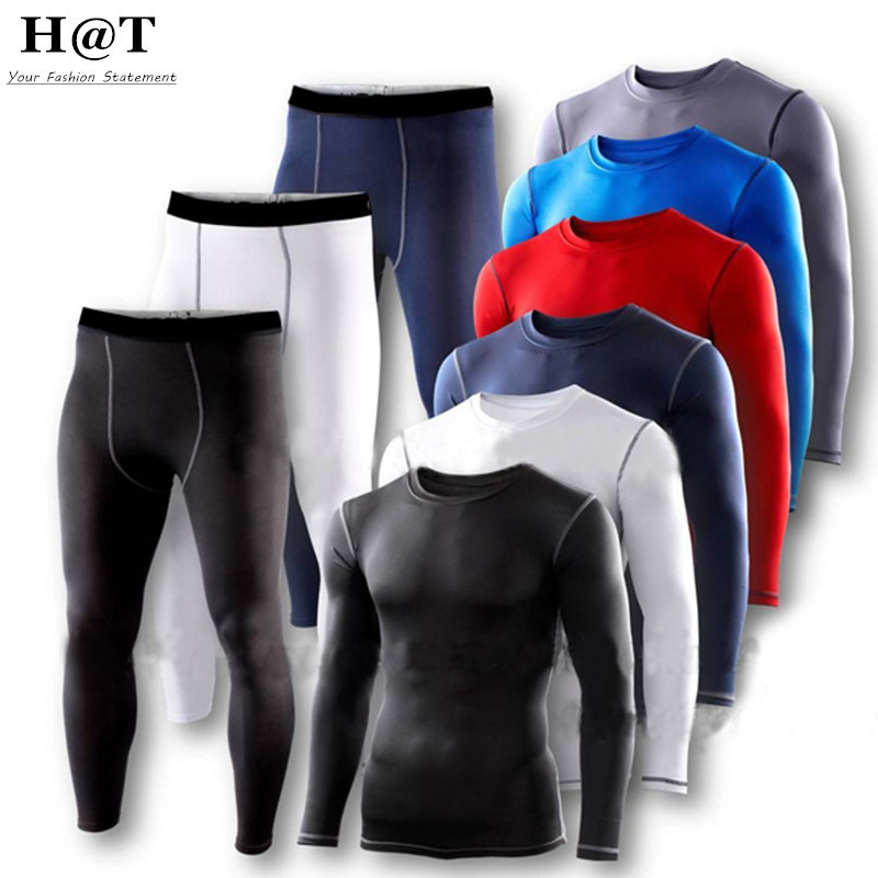 SE19 Mens Man Clothes Sets Compression <font><b>Base</b></font> <font><b>Layers</b></font> Armour Top Skins Shirt Casual T-shirts+Tight Pant Leggings New 2016 S-XXL