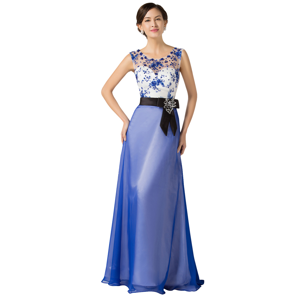 buy 2016 robe de soiree blue evening dresses long lace gown see through top. Black Bedroom Furniture Sets. Home Design Ideas