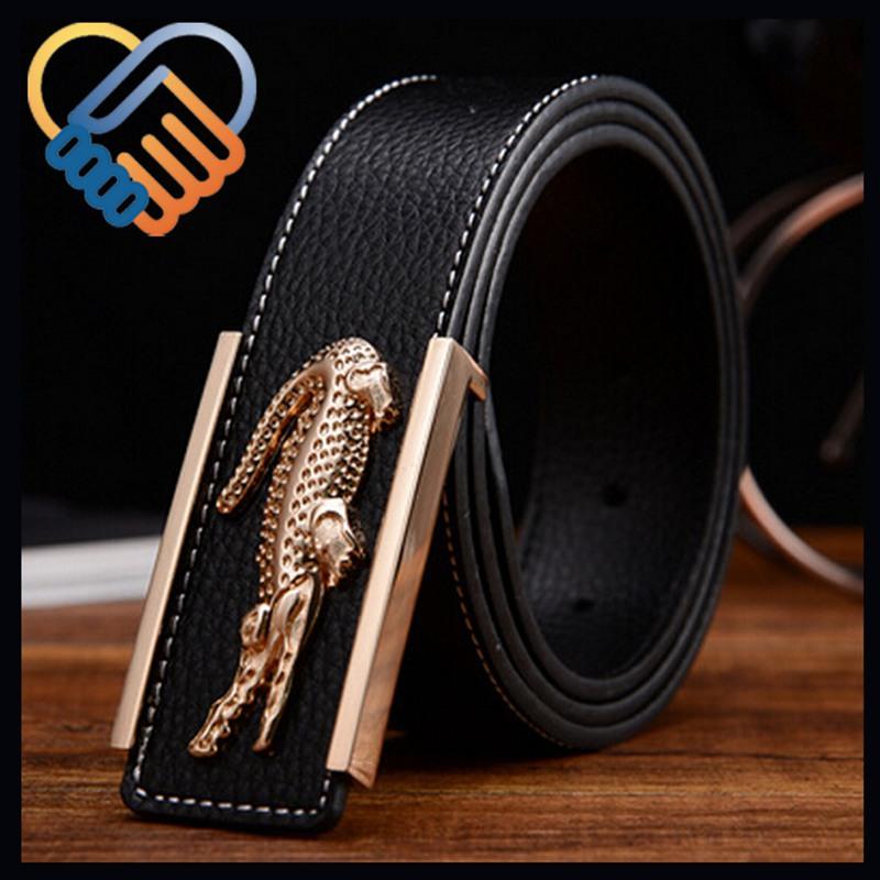 Top Quality Fahsion Crocodile buckle Brand Genuine Leather Man Belts, Classic Desig Smooth Buckle Cowskin Men's Waist Belt(China (Mainland))