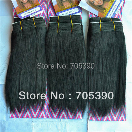 Best selling yaki afro hair extension hair weave SUPREME ULTIMATE yaki wave 8inch black free Shipping,5packs/lot(China (Mainland))