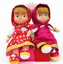 New Arrival Russian Martha Masha and Bear plush Dolls Baby Children Best Stuffed & Plush Animals for Children's gifts(China (Mainland))