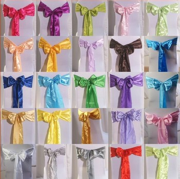 Free Shipping, New hot sale chair back silk butterfly bow yarn for wedding, party, meeting, banquet decorations, PH0033