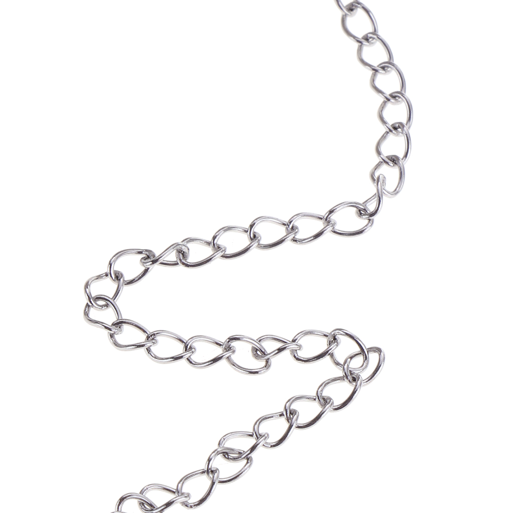 1 Roll Silver Stainless Steel Cable Chain For Crafting DIY Jewelry Making