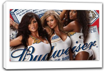 scrb232 Budweiser King Beer Sexy Ladies Bar Stretched Canvas Print Sign
