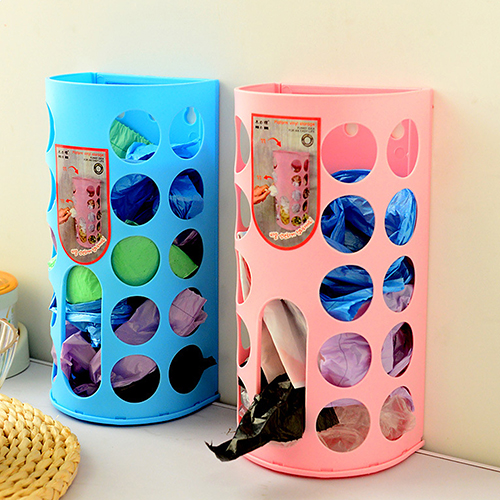 Organizer Recycle Wall Mount Plastic Carrier Bag Storage Box Container Holder(China (Mainland))