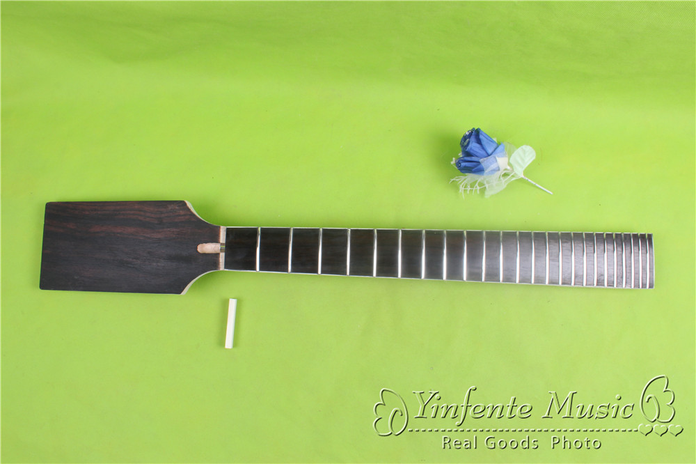 one  unfinished  Guitar neck electric guitar neck Solid wood 24 fret New   EBONY FINGERBOARD<br><br>Aliexpress