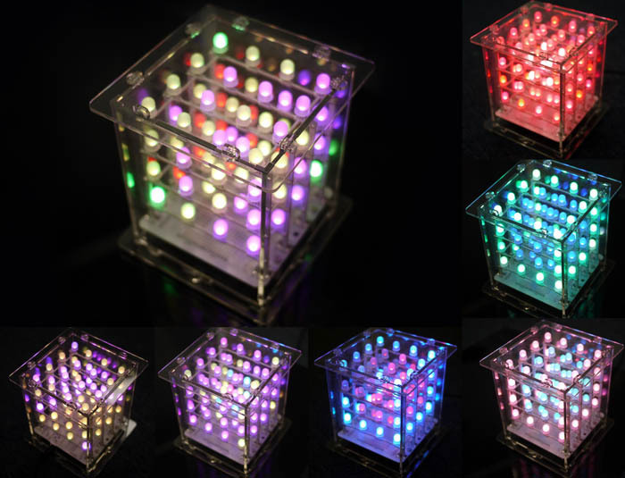 Seeed Studio Rainbow Cube Kit(Assembled)3D RGB LED Cube useful for creating colorful design Arduino compatible KIT12845P(China (Mainland))