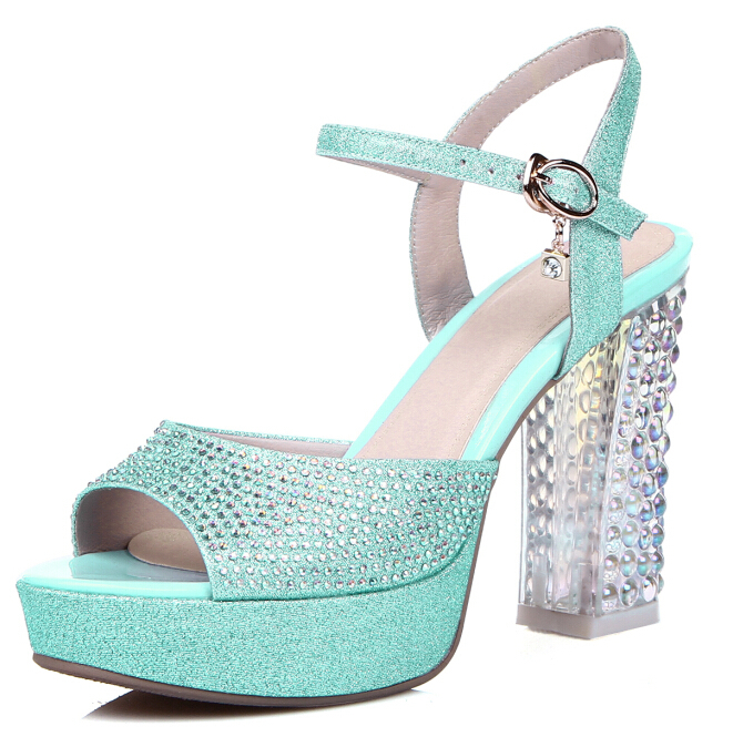 Здесь можно купить  ENMAYER New 2015 Fashion Sexy Spring summer Women shoes High heels Platforms Buckle Fashion Party Pumps Sandals shoes women  Обувь