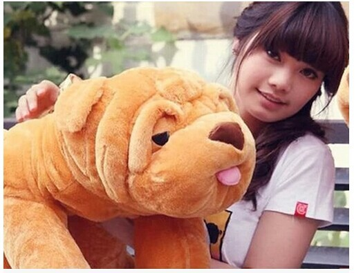 Фотография large 100cm shar pei dog plush toy stuffed toy doll,Christmas gift w4735