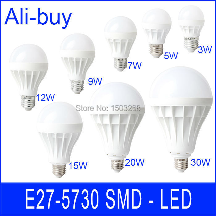 LED Lamp E27 E14 LED Bulb Bubble Ball LED Ceiling Spot Light 220V 110V SMD 5730 30W 20W 15W 12W 9W 7W 5W 3W With Box Ann(China (Mainland))