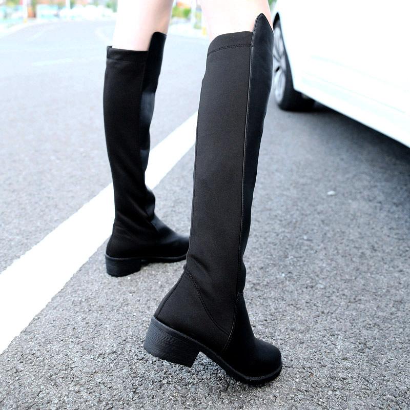 knee high low heel boots | Gommap Blog