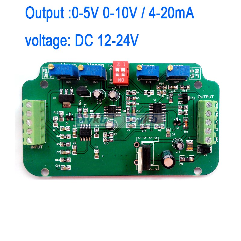 0-5V 0-10V 4-20MA Load Cell sensor Amplifier Weighing Transmitter voltage current converter Working voltage: DC 12-24V(China (Mainland))