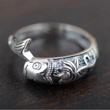 100% Реального Чистая Стерлингового Серебра 925 Кольцо классический рыбы кольцо для женщин Оптовая Изящных Ювелирных Изделий бесплатная доставка Мужчины Ювелирные Изделия WR20039(China (Mainland))
