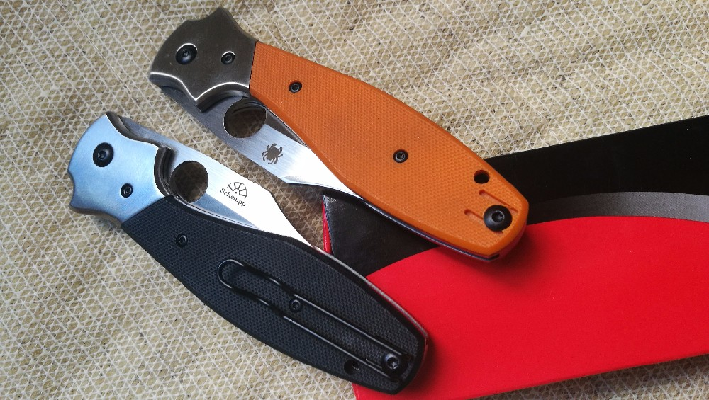 Buy High quality C190 Folding Knives D2 steel Black orange G10 Handle F3 C81 Camping Hunt pocket Survival Knife EDC Tool cheap