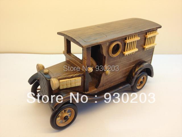 HandMade Wooden Decorative Home Accessory Vintage  Prison Truck Van Model