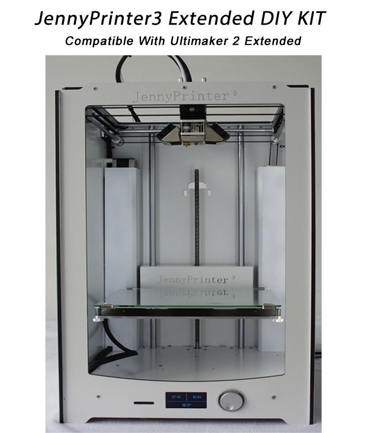 2016 Newest JennyPrinter 3 Extended DIY KIT Perfect Compatible with Ultimaker 2 UM2 Extended Included all