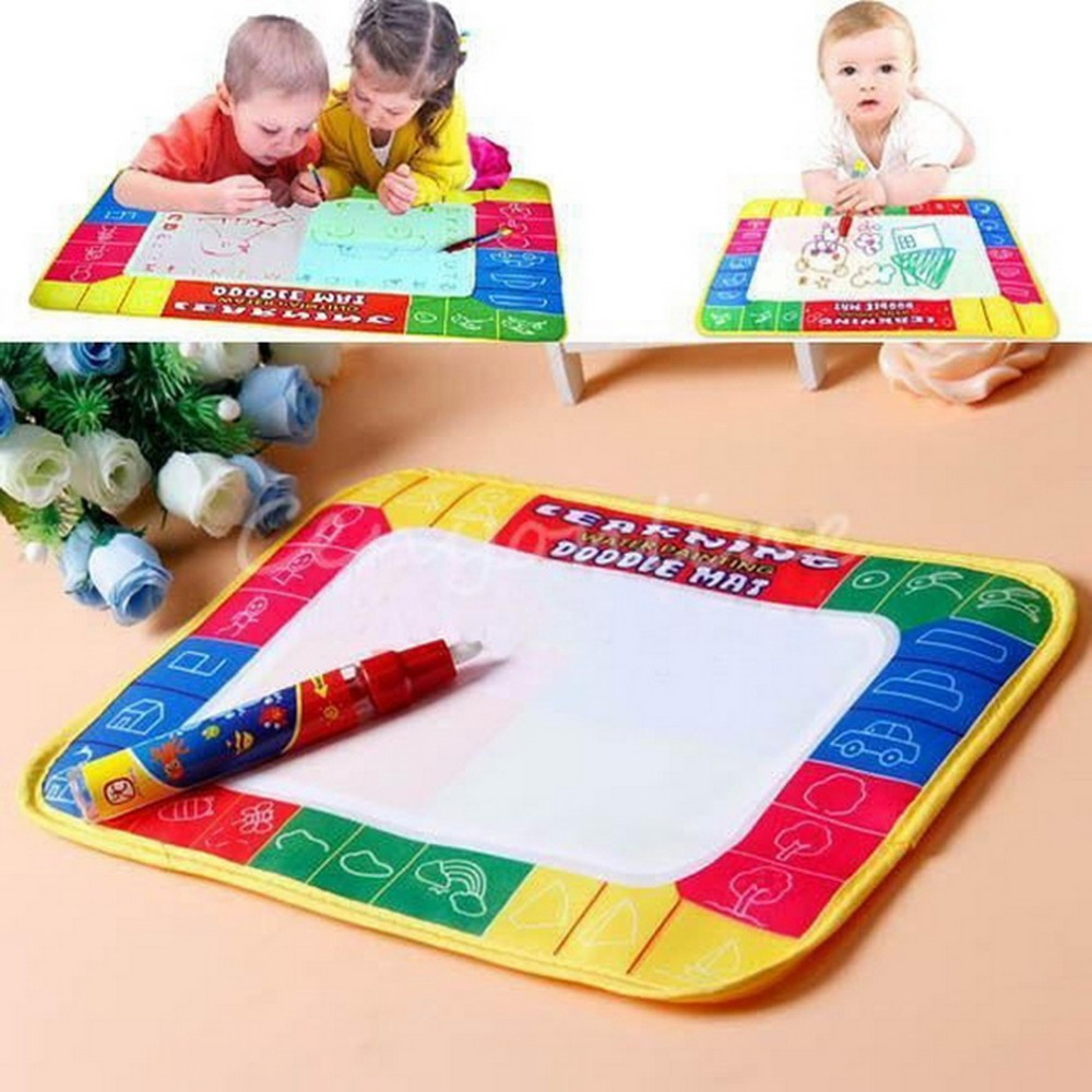 1 Pc Water Drawing Toys Mat+1 Magic Pen Water Drawing Board Baby Play Toys Kids Drawing Water Mat Tablet Aqua Doodle(China (Mainland))