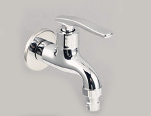 Free shipping brass bathroom lavatory single cold water tap outdoor garden wall bibcocks SC305(China (Mainland))