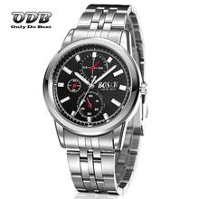 30 M impermeable de acero inoxidable reloj de cuarzo hombres reloj de cuarzo miran los Relojes electrónicos hombres 2015 negro blanco Relojes Relojio