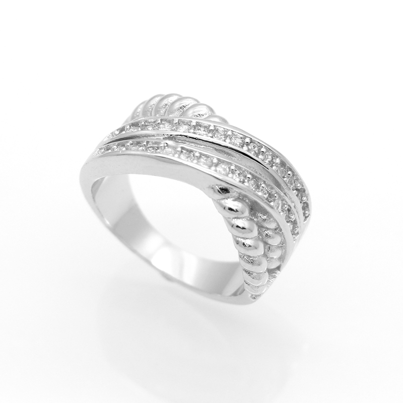 40 wedding band ring for zircon 925 sterling