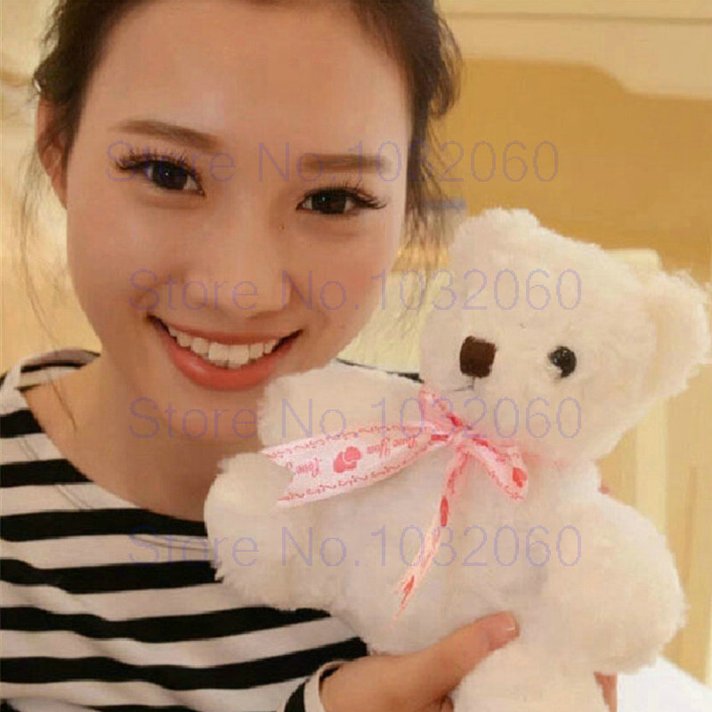 New arrived cartoon Small Bear Toy stuffed animals cloth doll Plush Toy wedding birthday baby pillow cushion gifts 25CM(China (Mainland))