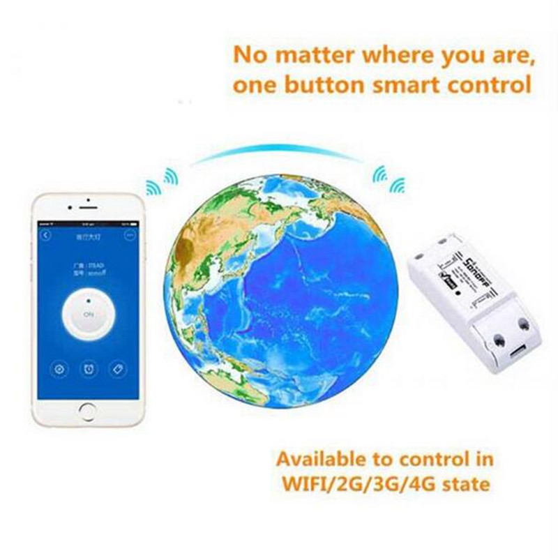 image for 2017 New 1CH Sonoff Wifi Switch Relay Module AC 90V-250V 220V Wireless