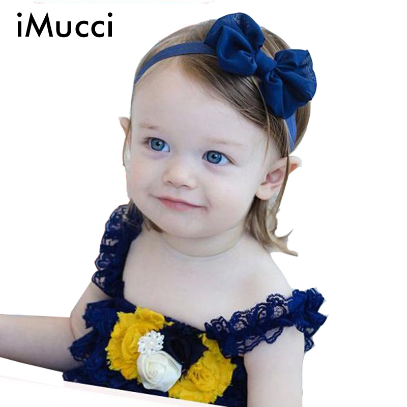 iMucci Candy Color Girls Bowknot Pink Baby Bow Yellow Headband Blue Headbands Infant Hair Accessories Toddler Hair Bands White(China (Mainland))