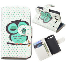 Printing Leather Cover for HTC Desire S G12 S510E Cover  With Stand and Card Holder 10 Colors in Stock(China (Mainland))