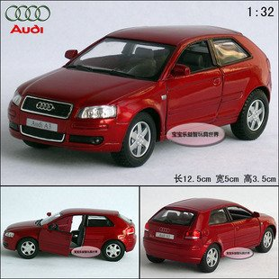 New AUDI A3 1:32 Alloy Diecast Car Model Toy Collection Red B101d(China (Mainland))