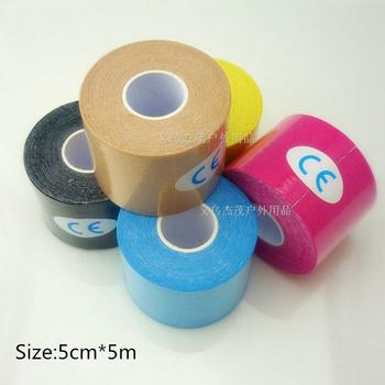 Новый 2.5 см * 5 м открытый медицинская лента цвет хлопок аварийная комплект эластичный клейкой ленты мышцы повязку поставки