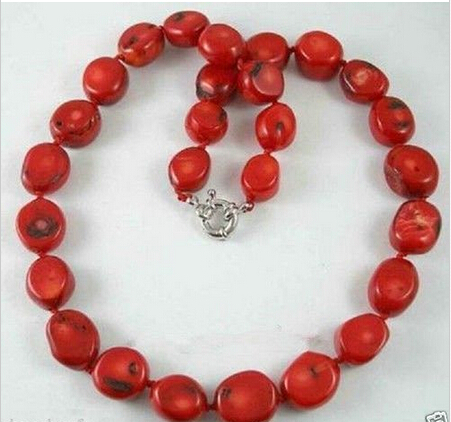 ddh002418 Beautiful Tibet Real red coral beads necklace 18''(China (Mainland))