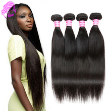 Malaysian Virgin Hair Extensions Malaysian Straight Hair 4 Bundles Good Cheap Remy Hair Weave Online Fast Deals on Aliexpress uk(China (Mainland))
