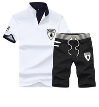 4XL95%cotton t-shirt hot models short-sleeved t-shirt + shorts suit shorts casual sports suit sports suit t shirt men shorts men
