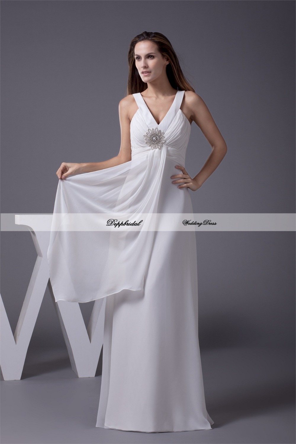 buy wholesale wedding dress a line two shoulder