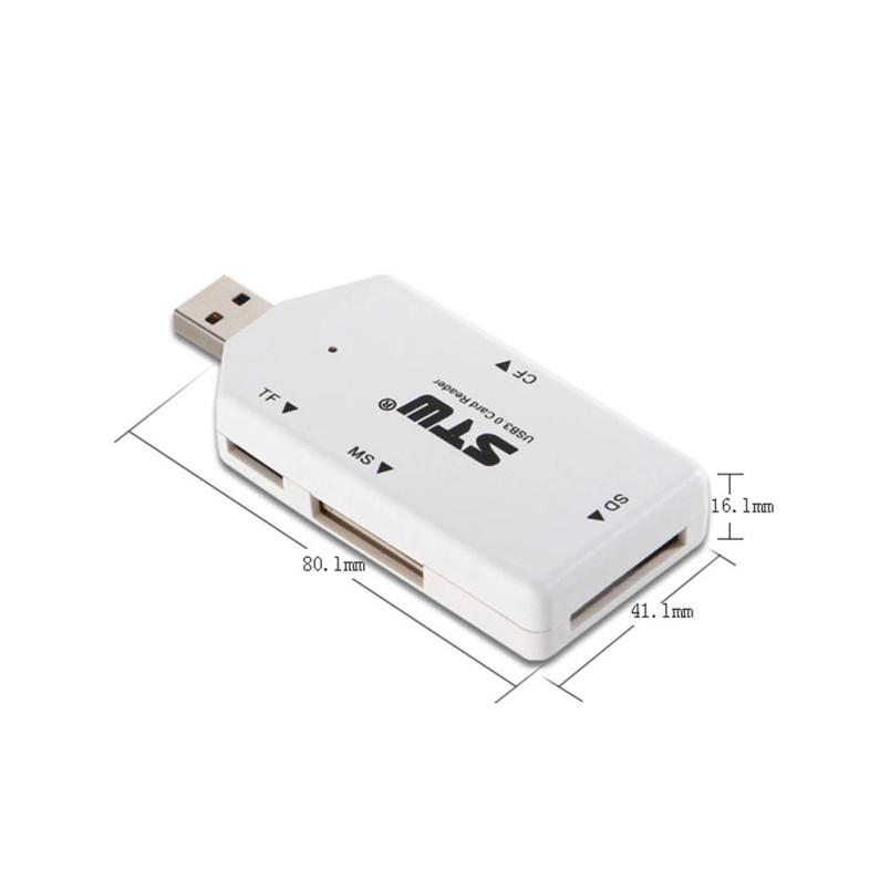 Adroit 5Gbps USB 3.0 All in 1 SD TF CF MS MMC Flash Memory Card Reader Adapter JAN5(China (Mainland))