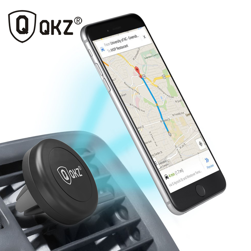 QKZ Car Phone Holder 360 Degree Universal Car Holder Magnetic Air Vent Mount Dock mobile phone holder For iPhone 6s Samsung HTC(China (Mainland))