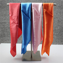 Size 50*50cm Candy Colors Square Silk Scarf Women'S Scarf Fashion Polyester Ladies Shawls And Designer Scarves Woman Neck Tie(China (Mainland))