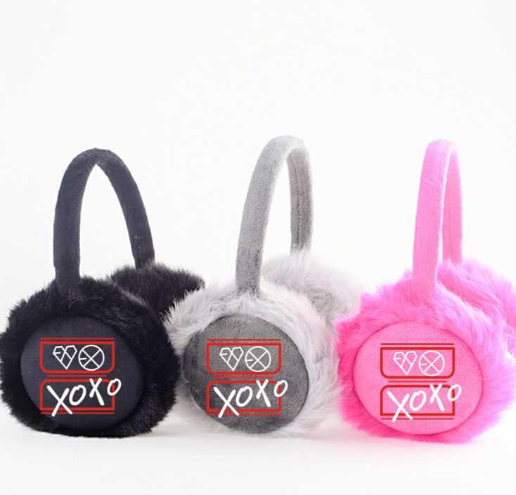Exo-m exo-k xoxo printing men women earmuff kpop fashion ear warmers for winter soft earmuffs 3 colors(China (Mainland))