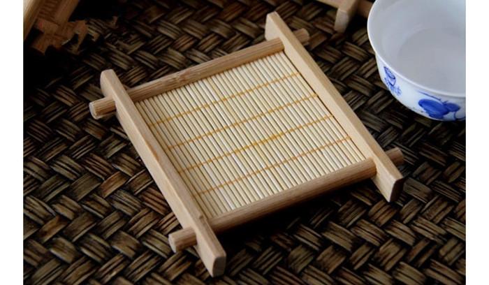 Pad Hot Sale bamboo weaving Home Table Decor/ Tea Drink Place mat/ Cup Mat(China (Mainland))