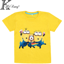 1pcs/lot 2015 despicable me girls&boys minions clothes, girls minion t shirt, children summer Tops & Tee T-shirt for a boy