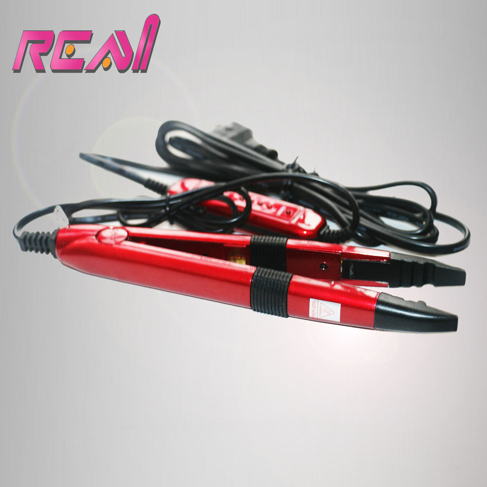 Freeshippinng Red Color Tem Control Fusion Iron For Keratin Pre Bonded Hair Extensions Tools Mini Hair Iron Fusion Connector