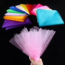 Buy  (500cm/lot) 75cm Wide Sheer Organza Tulle Gauze Roll Wedding Party Decorations DIY Tissus Fabric Table Swags Chair Sashes for $2.70 in AliExpress store
