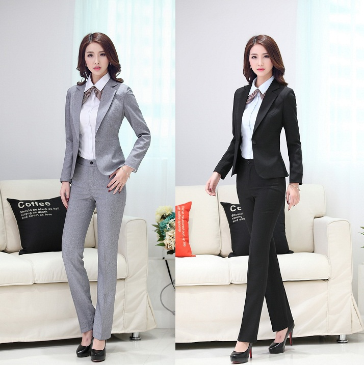 Hot sale 2015 spring ladies pant suits office uniform for Office uniform design 2015