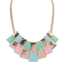 Free shipping!European and American fashion punk personality wild geometric rhinestone necklace (China (Mainland))