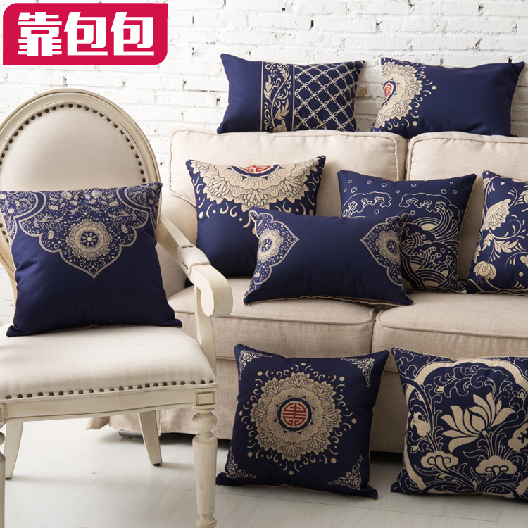 High Grade Classical Chinese Style Sofa Pillow Bag European Antique Cushion Cover Comfortable Pillowcase(China (Mainland))